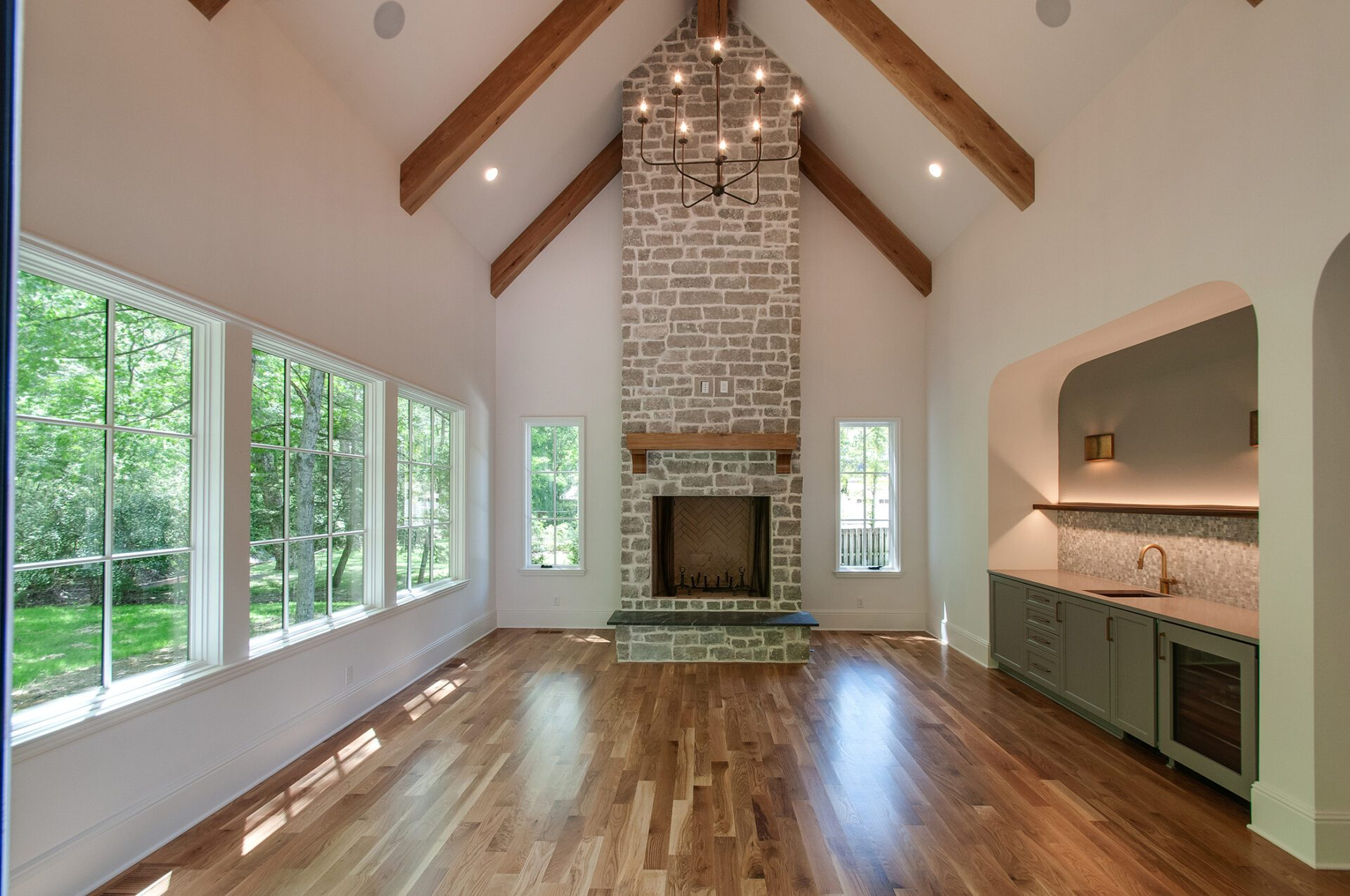 Newly renovated home with a new fireplace for home improvements from Donnelly Timmons