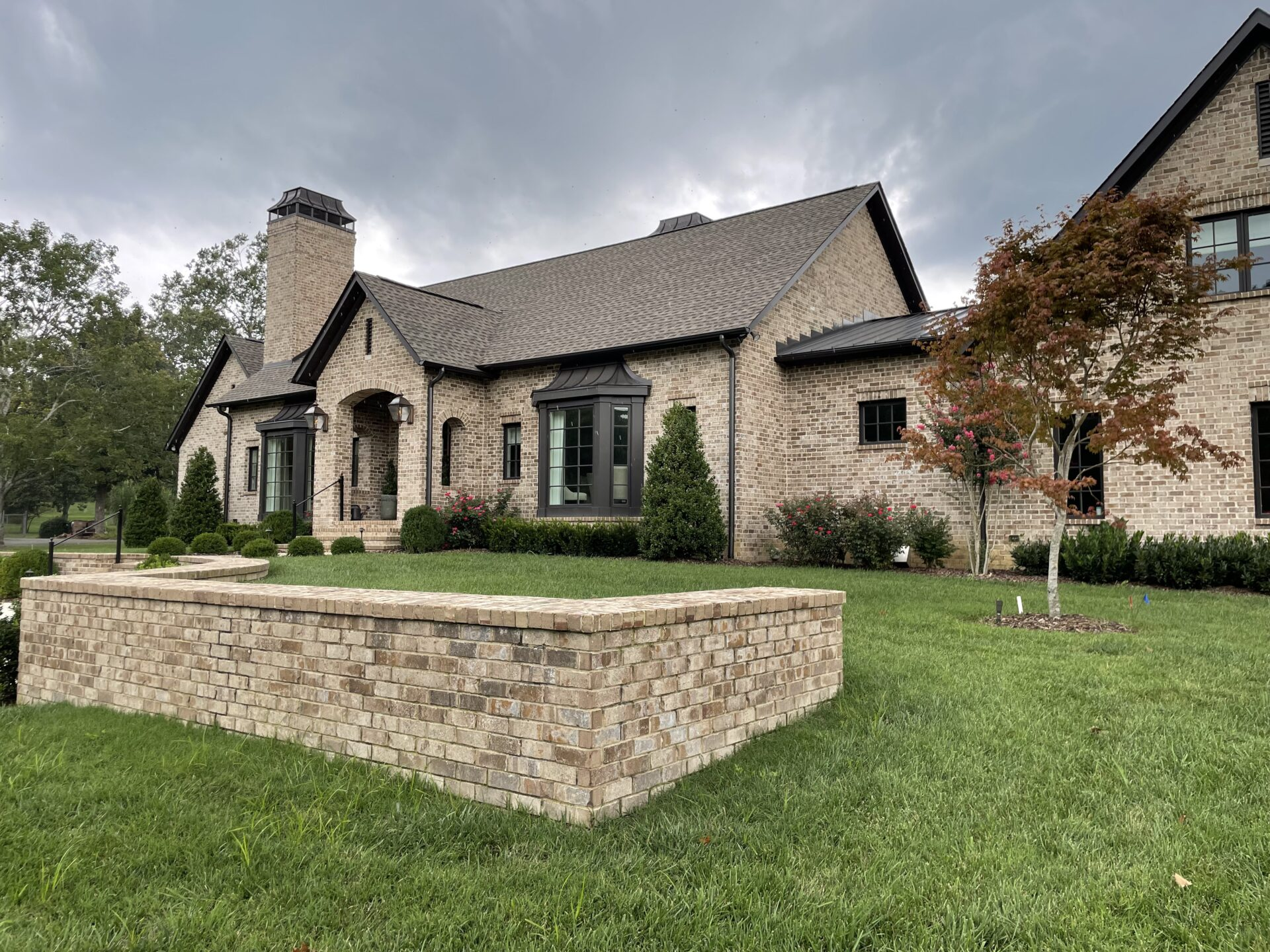 Side View of a Beautiful Custom Built Home from Nashville Home Builders